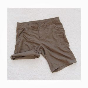 The North Face Roll Up Shorts Size 10 Khaki Brown